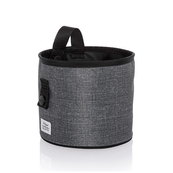 Oh-Snap Bin - Charcoal Crosshatch