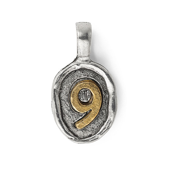 Wax Seal Charm - Two Tone Number 9