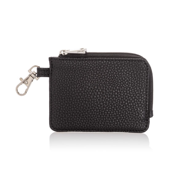 Light Traveler Card Wallet - Black Beauty Pebble