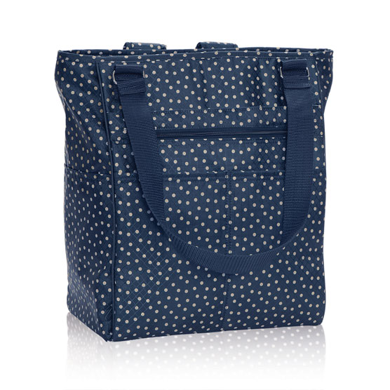 Take Two Tote - Navy Dancing Dot