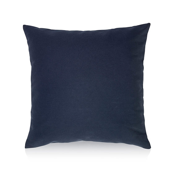 Statement Canvas Pillow Cover 18x18 - Navy