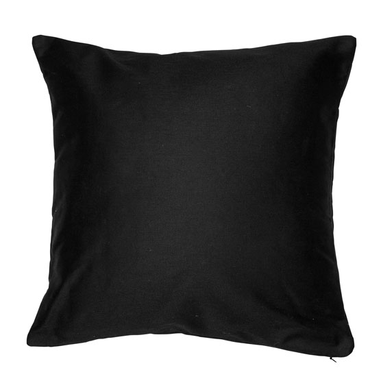 Statement Canvas Pillow Cover 18x18 - Black