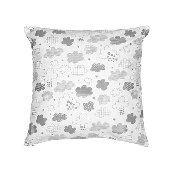 Statement Canvas Pillow Cover & Insert 18x18 - Countin' Clouds