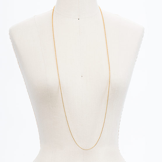 Ball Chain - 40 inch - Gold Tone