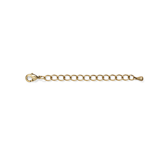 Necklace Extender - 2 inch - Gold Tone