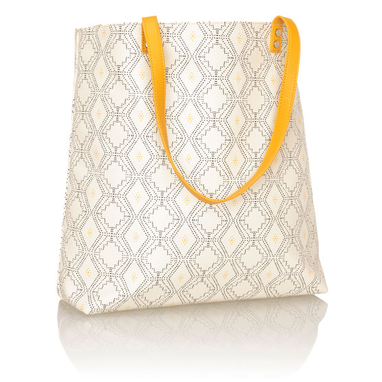 Around Town Tote - Dotted Geo Pebble