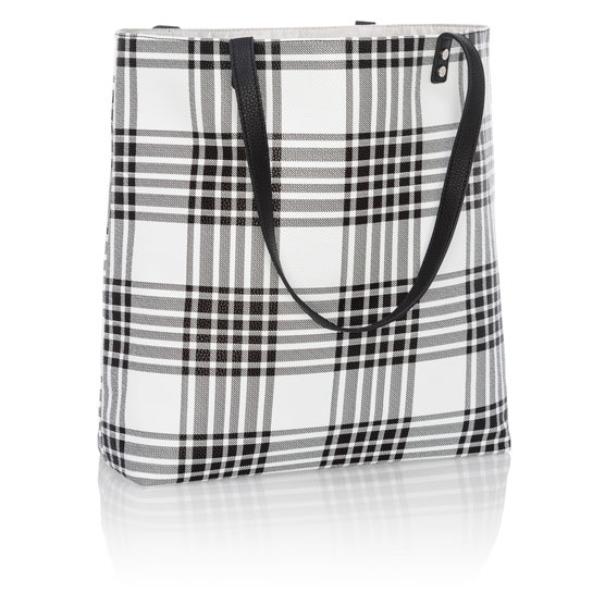 Around Town Tote - Buffalo Check Pebble