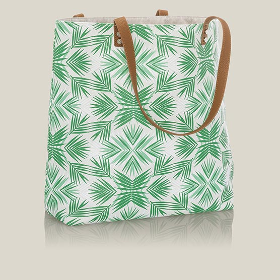 Around Town Tote - Deco Palm Pebble