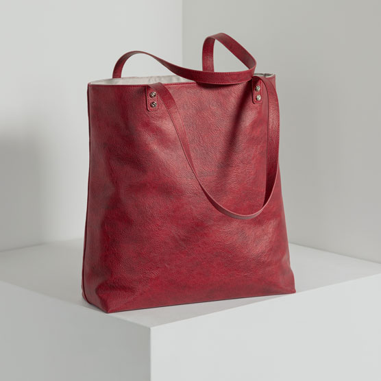 Around Town Tote - Ruby Distressed Pebble