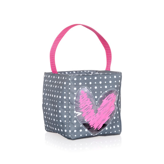 Littles Carry-All Caddy - Grey Ditty Dot