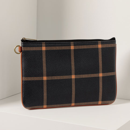 Rubie Mini - Caramel Windowpane Pebble