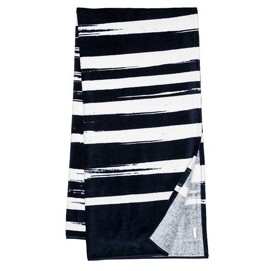 Summer Days Towel - Navy Brush Strokes