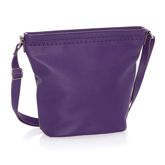 Café Crossbody - Posh Purple Pebble