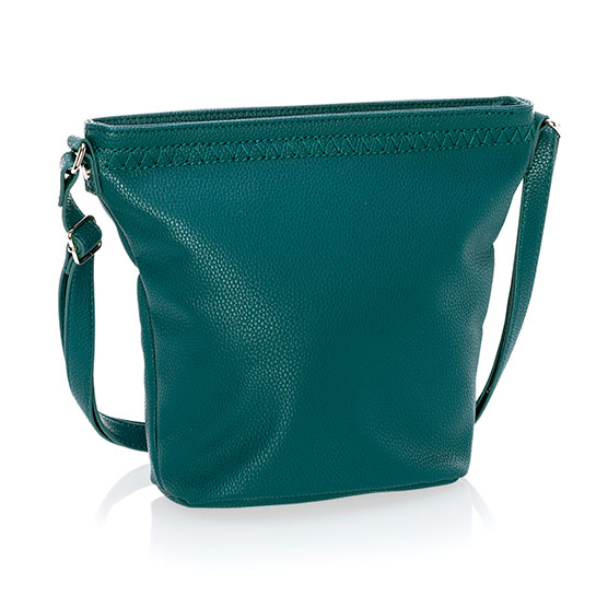 Café Crossbody - Peacock Pebble