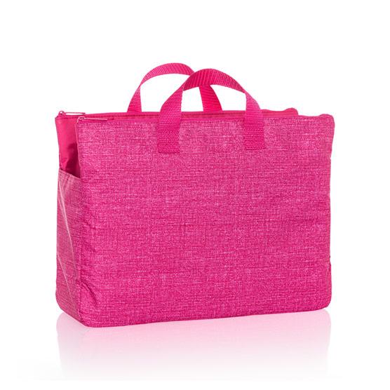 Super Swap-It Pocket - Pink Crosshatch