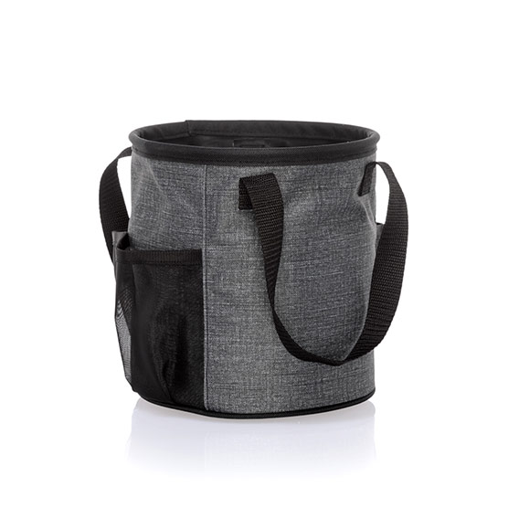 Summer Fun Caddy - Charcoal Crosshatch