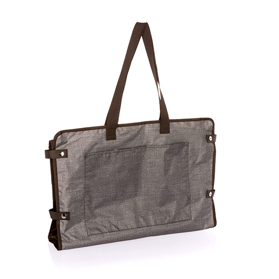 Well Suited Garment Tote - Mocha Crosshatch