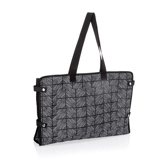 Well Suited Garment Tote - Chevron Squares