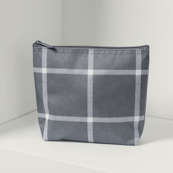 Snack & Go Pouch - Windowpane Plaid