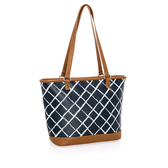 City Chic Bag - Dash of Plaid Pebble