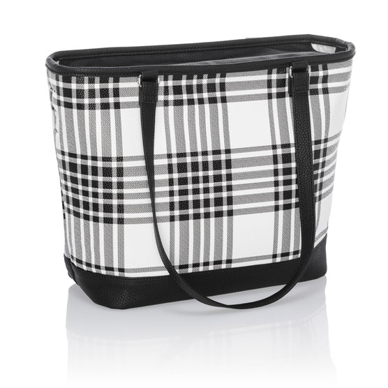 City Chic Bag - Buffalo Check Pebble