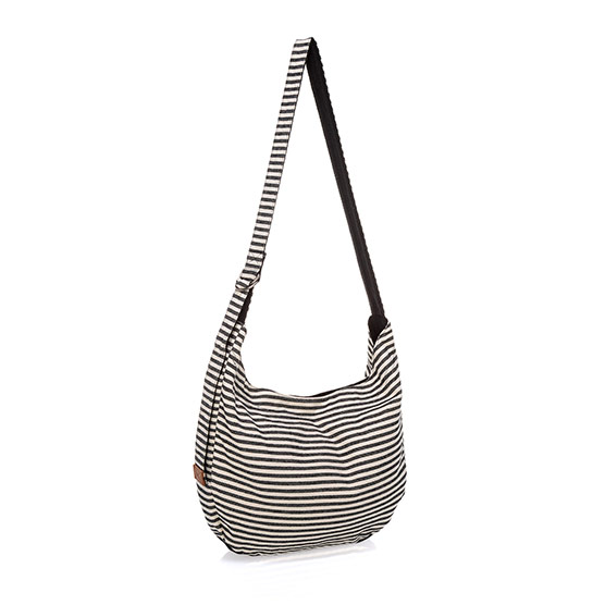 Retro Metro Hobo Crossbody - Twill Stripe