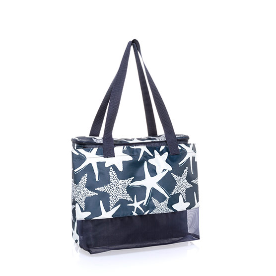Sand N' Shore Thermal Tote - Navy Starfish Splash