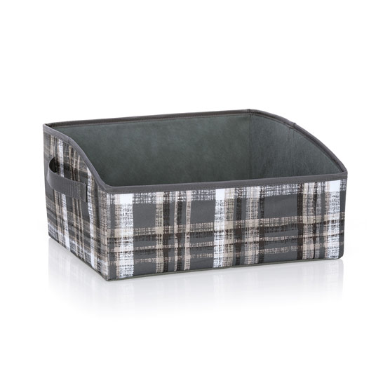 Your Way Display Bin - Cozy Plaid