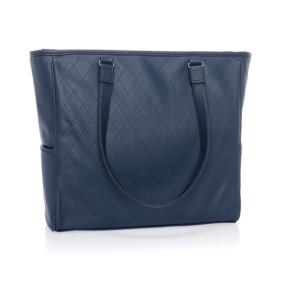 Cindy Tote Ltd. - Midnight Navy Diamond Pebble