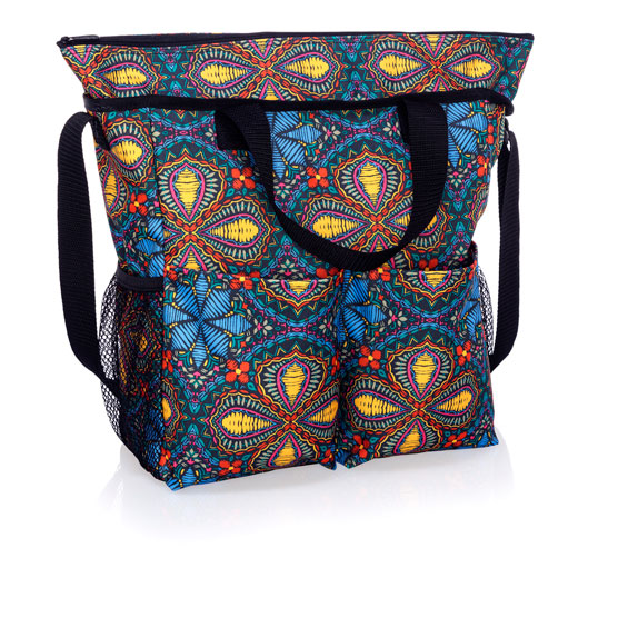 Crossbody Organizing Tote - Stitched Medallion