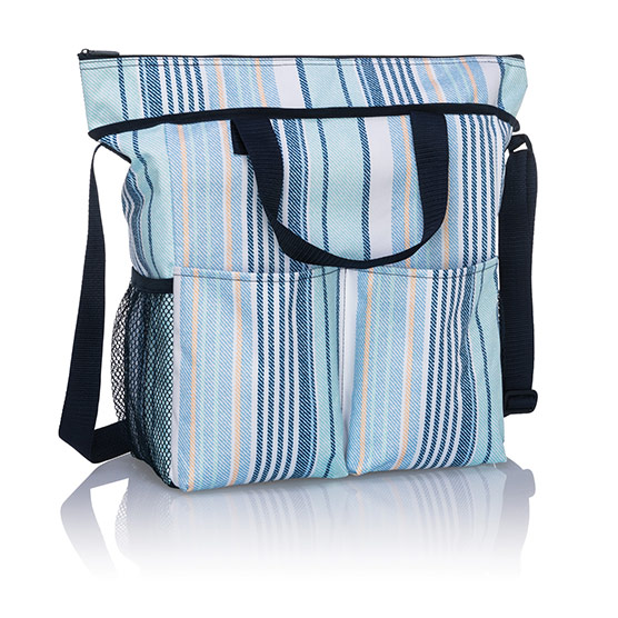 Crossbody Organizing Tote - Boardwalk Stripe
