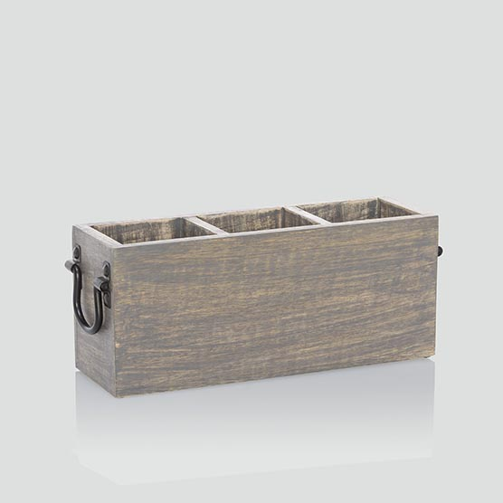 Close to Home Caddy - Grey Wash Wood
