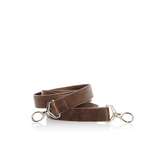 Crossbody Strap - Chestnut Distressed Pebble