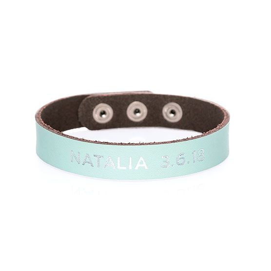 Just Write Snap Bracelet - Blue Glass