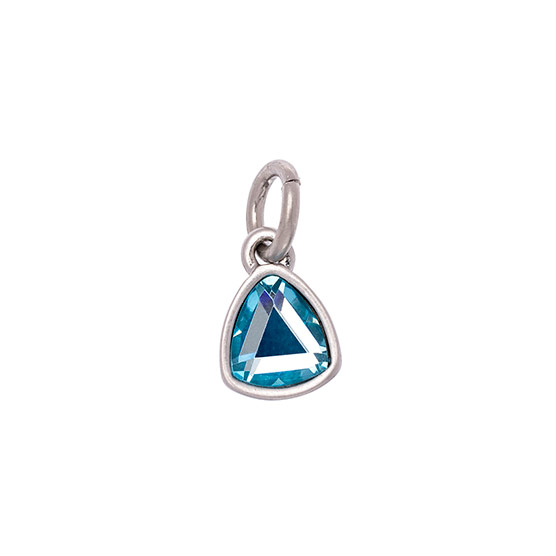 Celebration Birthstone Charm - March Aquamarine