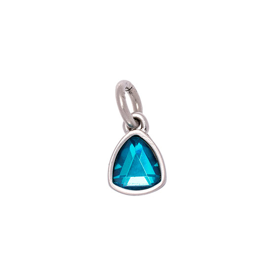 Celebration Birthstone Charm - December Blue Zircon