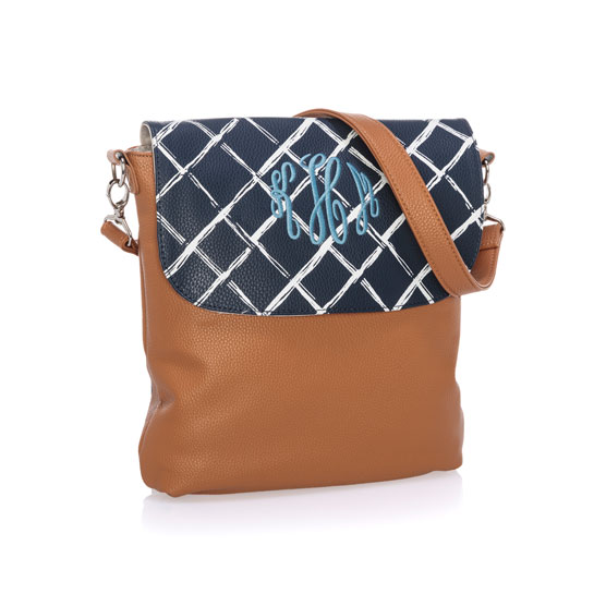 Studio Thirty-One Modern - Caramel Charm Pebble w/ Dash of Plaid Pebble