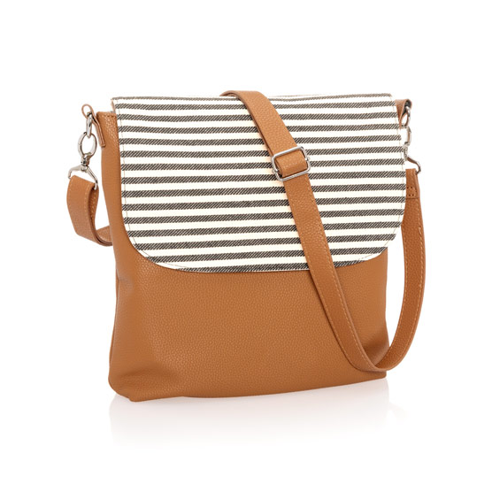 Studio Thirty-One Modern - Caramel Charm Pebble w/ Twill Stripe