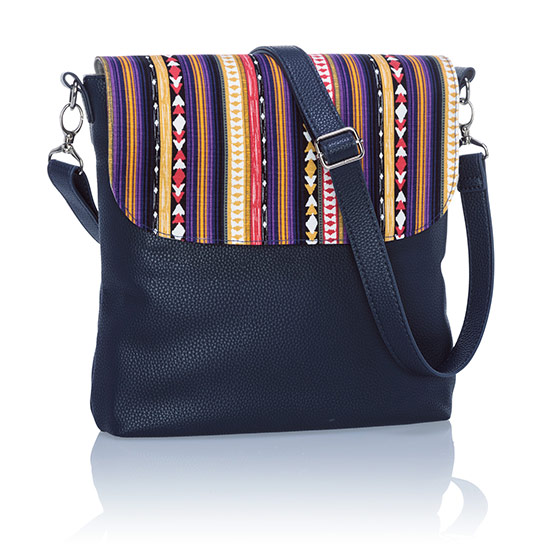 Studio Thirty-One Modern - Midnight Navy Pebble w/ Purple Southwest Stripe
