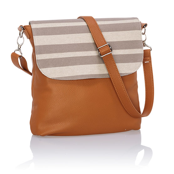 Studio Thirty-One Modern - Caramel Charm Pebble w/ Double Stripe