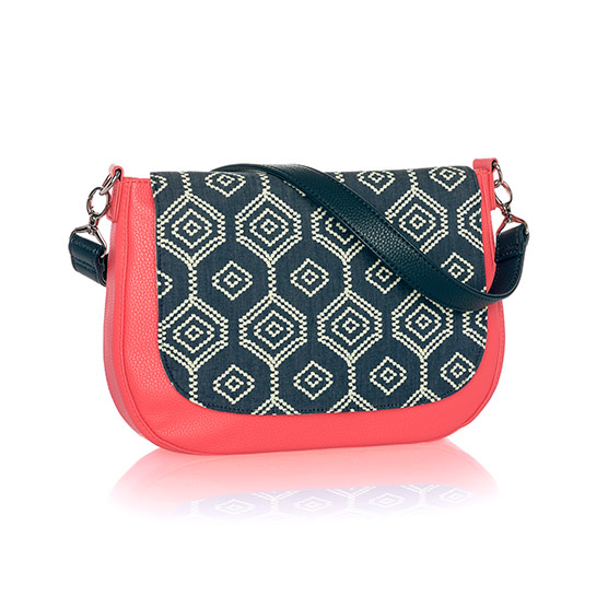 Studio Thirty-One Classic - Calypso Coral Pebble w/ Dotty Hexagon