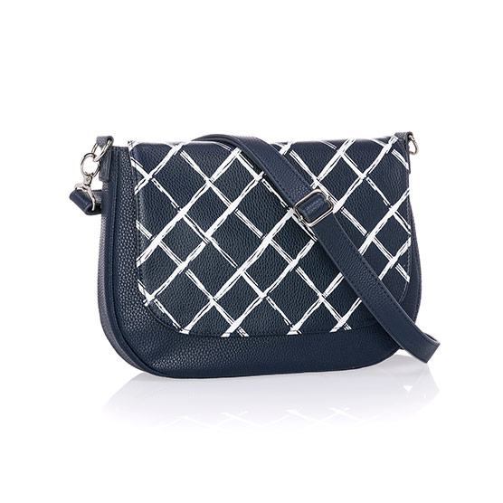 Studio Thirty-One Classic - Midnight Navy Pebble w/ Dash of Plaid Pebble