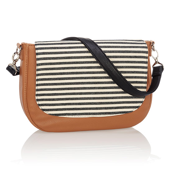 Studio Thirty-One Classic - Caramel Charm Pebble w/ Twill Stripe