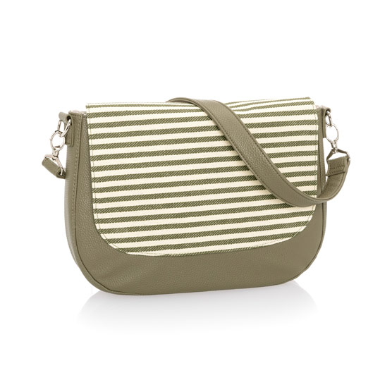 Studio Thirty-One Classic - Ooh-la-la Olive Pebble w/ Olive Twill Stripe