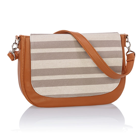 Studio Thirty-One Classic - Caramel Charm Pebble w/ Double Stripe