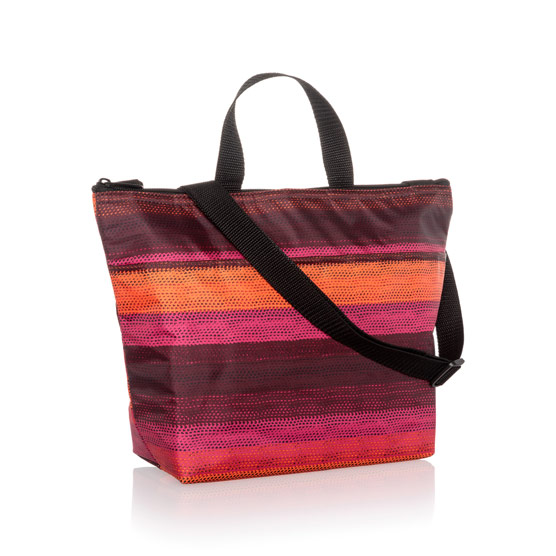 Crossbody Thermal Tote - Ombre Stripe