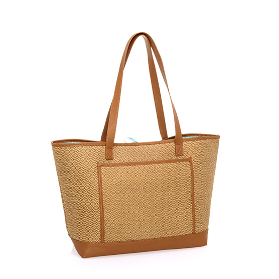Shore Enough Tote - Diamond Straw