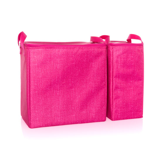 Double Chill Thermal Set - Pink Crosshatch