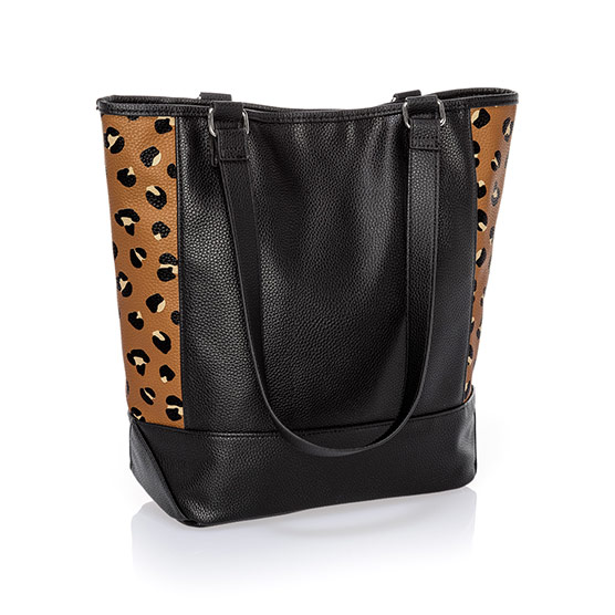 Colorblock Tote - Black Beauty Pebble