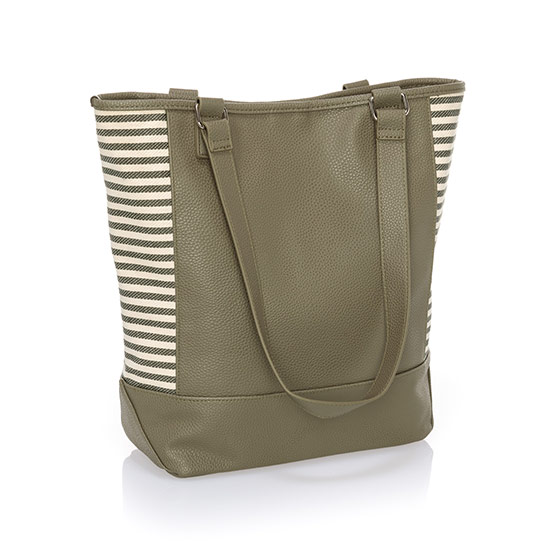 Colorblock Tote - Ooh-la-la Olive Pebble